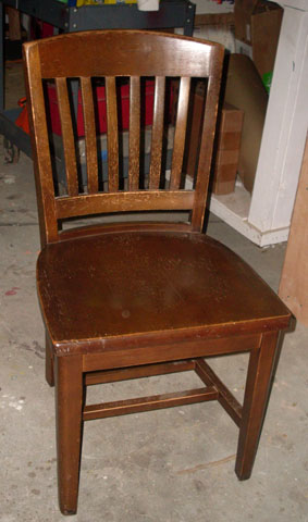 banker chair wooden to kill a mockingbird